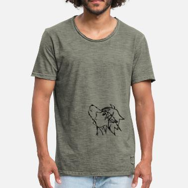Wolf Eyes With the eyes of a wolf - Men's Vintage T-Shirt