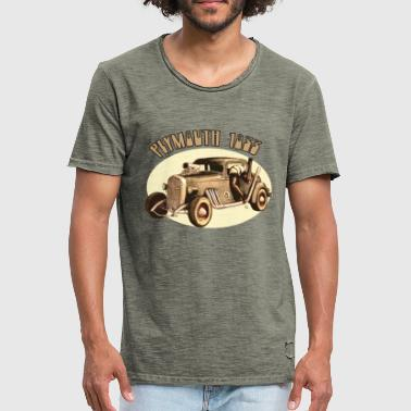 Vintage Plymouth 1933 - T-shirt vintage Homme