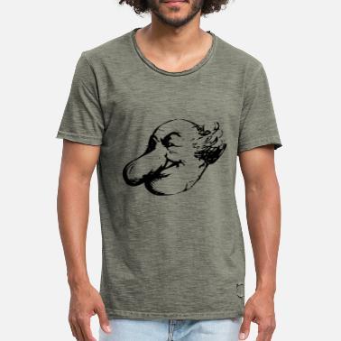 Mann Satire Satire comic. Mann mit großer Nase. Opa - Männer Vintage T-.  Männer Vintage T-Shirt 352a0ea067