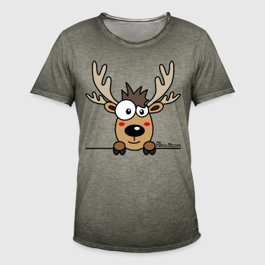 Baby Caribou Renne Noël (by nimalo.com) - T-shirt vintage Homme