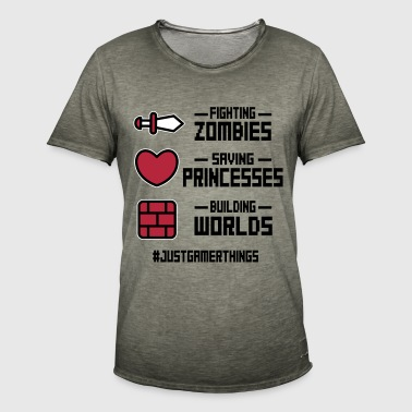 just gamer things - Camiseta vintage hombre