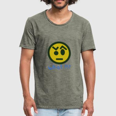 What Smiley Emoticon Geschenkidee - Männer Vintage T-Shirt
