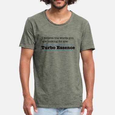 Commando The words are Turbo Essence - Men's Vintage T-Shirt