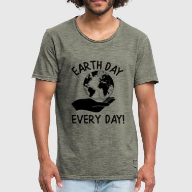 Earth Day Every Day Awareness - Miesten vintage t-paita