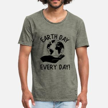 Dday Earth Day Every Day Awareness - Miesten vintage t-paita