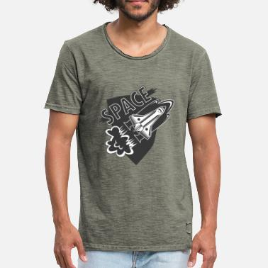 Need My Space space traval - T-shirt vintage Homme