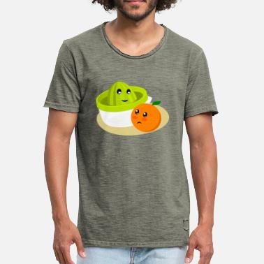 Juicer Orange and juicer II. Orange juice - Men's Vintage T-Shirt