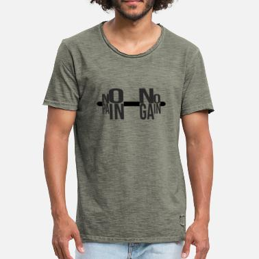 No Pain No Gain NO PAIN NO GAIN - Camiseta vintage hombre