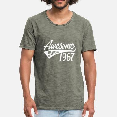 1967 Awesome Since 1967 - Men's Vintage T-Shirt