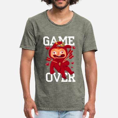 Love Struck Lover hit by Armor's arrows - Men's Vintage T-Shirt