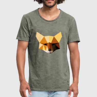 Vegan Fox Polygon fox - Men's Vintage T-Shirt