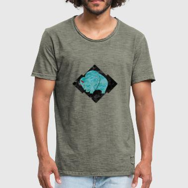 Turquoise Buffalo - Men's Vintage T-Shirt