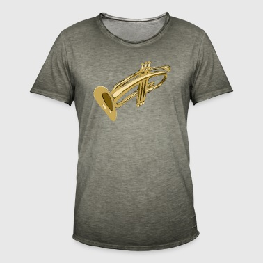 Playing the Trumpet - Männer Vintage T-Shirt