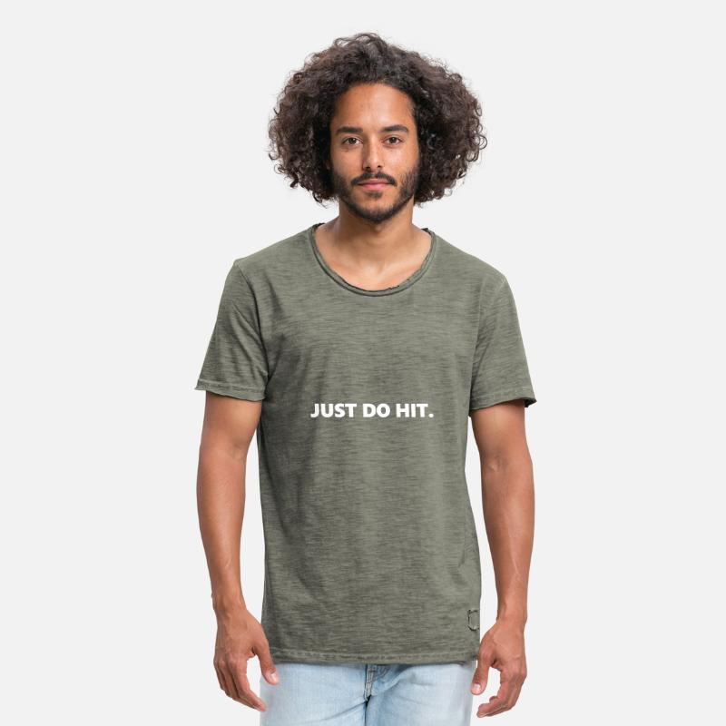 Hits T-Shirts - JUST DO HIT. - Men's Vintage T-Shirt vintage khaki