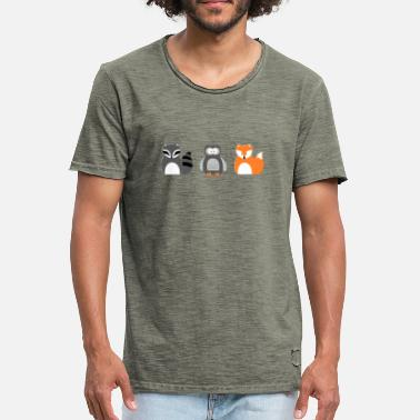 Animal De Bosque Animales del bosque - Camiseta vintage hombre