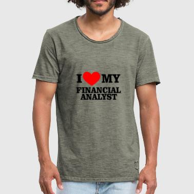 Financial Analyst I heart financial analyst - Men's Vintage T-Shirt