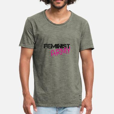 Army Fiancee FEMINIST ARMY - Men's Vintage T-Shirt