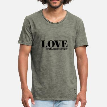 LOVE truly.madly.deeply - Männer Vintage T-Shirt