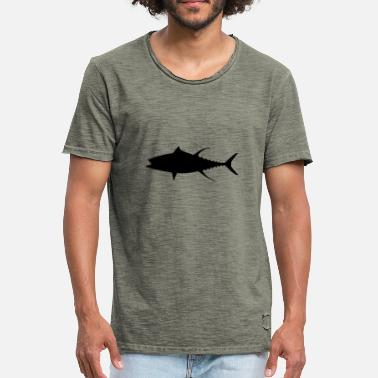 Pikeperch fish537 - Men's Vintage T-Shirt