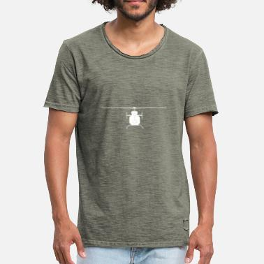 Helikopter Helikopter Silhouette Weiss - Männer Vintage T-Shirt