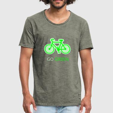 Mode Of Transport Go Green Bicycle - Men's Vintage T-Shirt