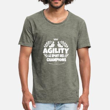2e39913264a Sport Agility agility le sport des champions - T-shirt vintage Homme