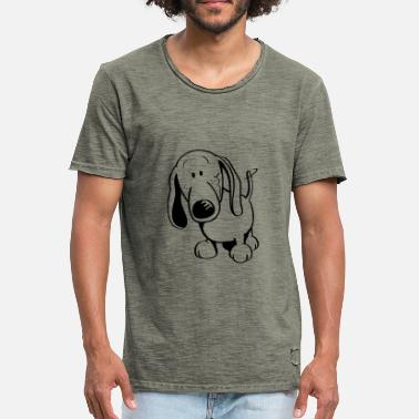 Dackel Cartoon Lustiger Dackel - Dachshund - Männer Vintage T-Shirt