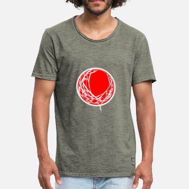 Japanese flag and canvas - Men's Vintage T-Shirt