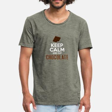 Keep Calm Eat Chocolate Keep Calm And Eat Chocolate - Men's Vintage T-Shirt