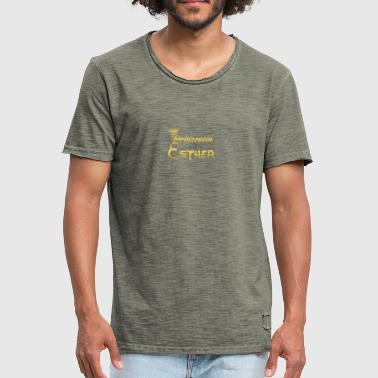 PRINCESS PRINCESS QUEEN GIFT Esther - Men's Vintage T-Shirt