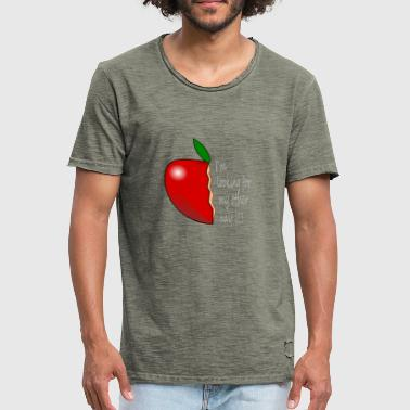 The other half of the apple - Men's Vintage T-Shirt