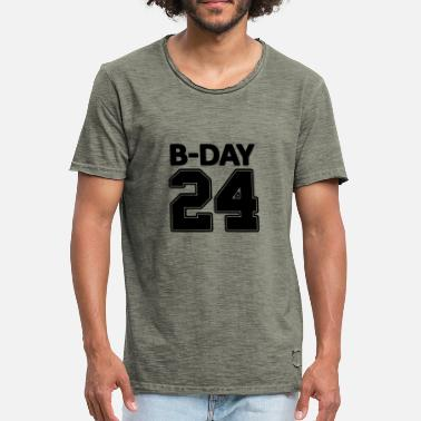 Footballers Jersey Number 24 number number for the 24th birthday football jersey - Men's Vintage T-Shirt