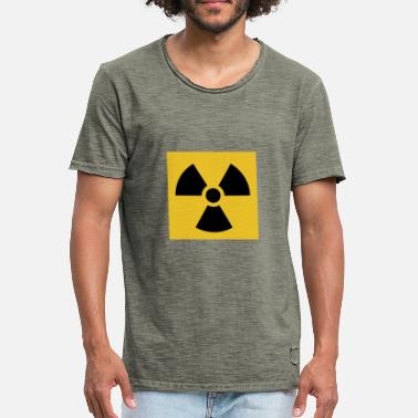 Radiation Radiation warning - Men's Vintage T-Shirt