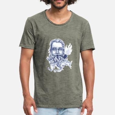 Sailor Wise Bearded Sailor - Mannen Vintage T-shirt