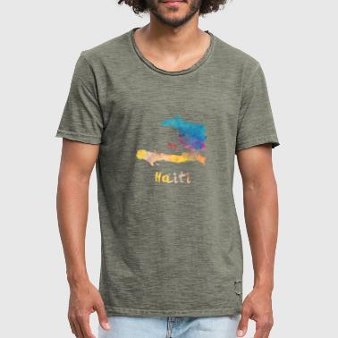 Haitian Watercolor Country - Men's Vintage T-Shirt