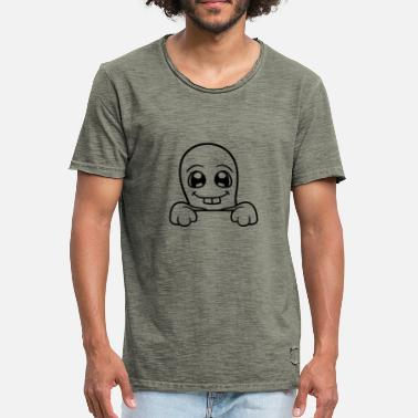 Walls Fell hide wall wall sweet cute little ghost - Men's Vintage T-Shirt