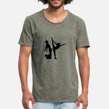 Split Personality yoga figure fitness splits sexy girl female hot - Men's Vintage T-Shirt