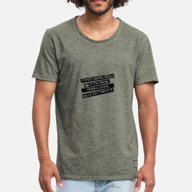 Sierra Leone Motive for cities and countries - SIERRA LEONE - Men's Vintage T-Shirt