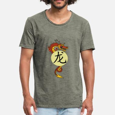 Chinese Draak Chinese draak - Mannen Vintage T-shirt