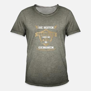 Portero de fútbol nacido de mayo Camiseta premium hombre  b4a085ec90538