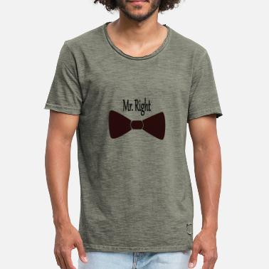 Mr Right Mr. Right - Mannen Vintage T-shirt