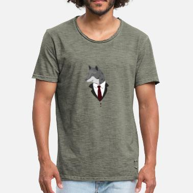 Formal FORMAL WOLF / GIFT - Vintage-T-skjorte for menn