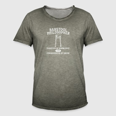 Barstool filosoof Philosophy Craft Beer Bar - Mannen Vintage T-shirt