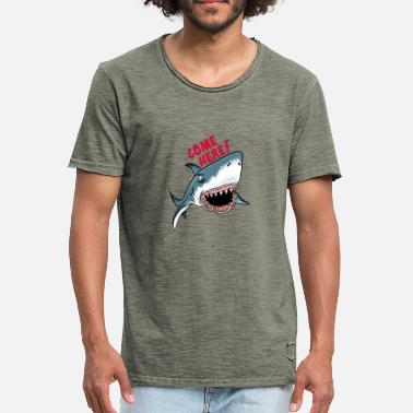 Great White Shark Great White Shark Come Here - Männer Vintage T-Shirt