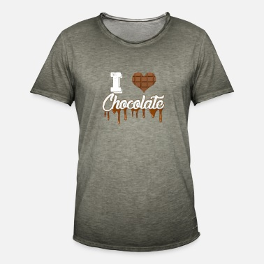 I Love Cycling I Love Chocolate - Men's Vintage T-Shirt