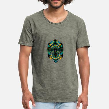 Trippy Psychedelic Awesome Trippy Psychedelic Moth - Men's Vintage T-Shirt