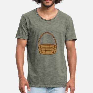 Basket Maker basket basket easter basket gifts plaited clip - Men's Vintage T-Shirt
