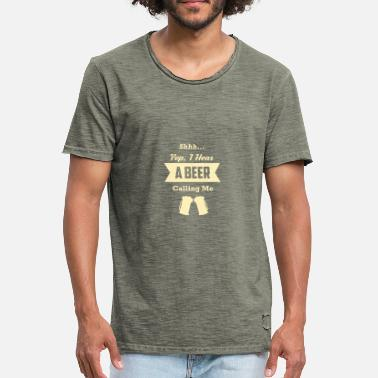 Yeps Yep, je Hear A BEER ME CALLING - T-shirt vintage Homme