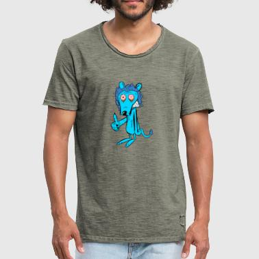 Anxieux Lion anxieux - T-shirt vintage Homme