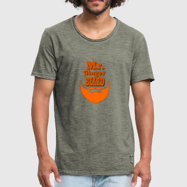 Mr. Ginger Beard - Men's Vintage T-Shirt